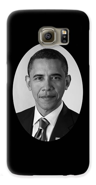 President Barack Obama Galaxy S6 Case by War Is Hell Store