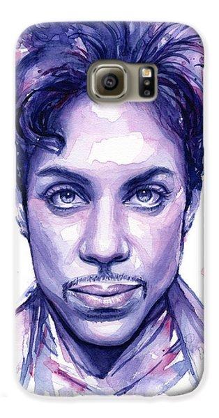Prince Purple Watercolor Galaxy S6 Case by Olga Shvartsur