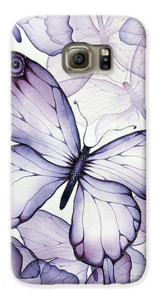 Purple Butterflies Galaxy S6 Case by Christina Meeusen