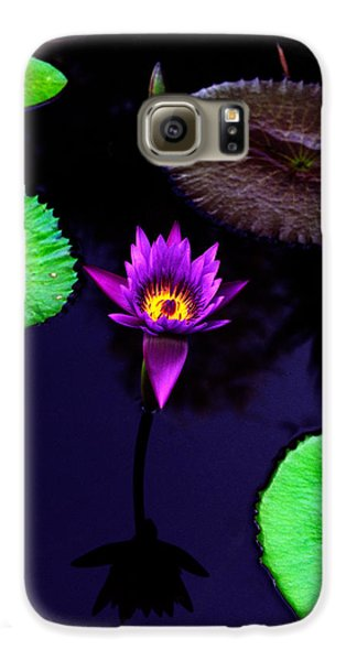 Purple Lily Galaxy S6 Case by Gary Dean Mercer Clark