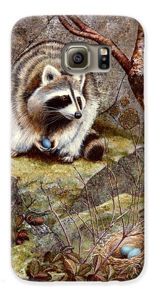 Raccoon Found Treasure  Galaxy S6 Case by Frank Wilson