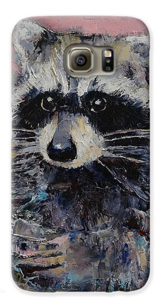 Raccoon Galaxy S6 Case by Michael Creese