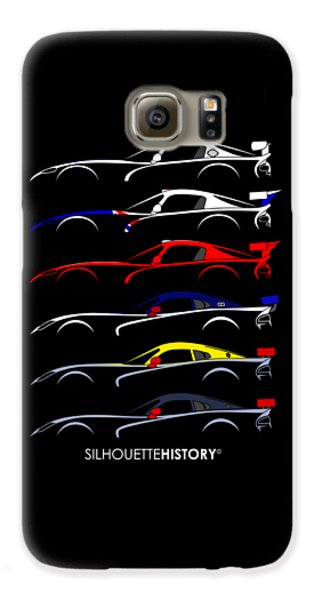 Racing Snake Silhouettehistory Galaxy S6 Case by Gabor Vida