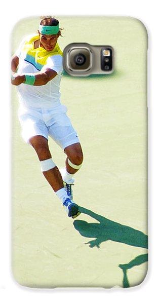 Rafael Nadal Shadow Play Galaxy S6 Case by Steven Sparks