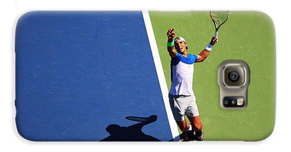 Rafeal Nadal Tennis Serve Galaxy S6 Case by Nishanth Gopinathan