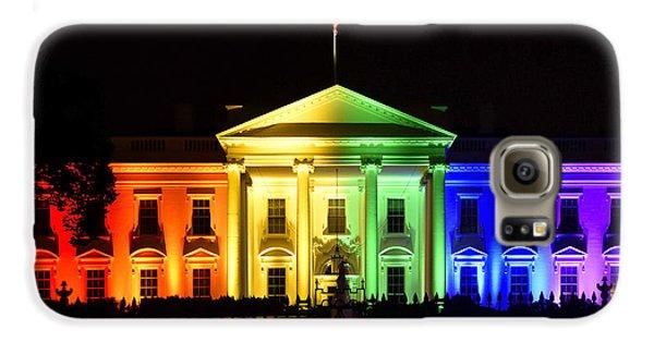 Rainbow White House  - Washington Dc Galaxy S6 Case by Brendan Reals