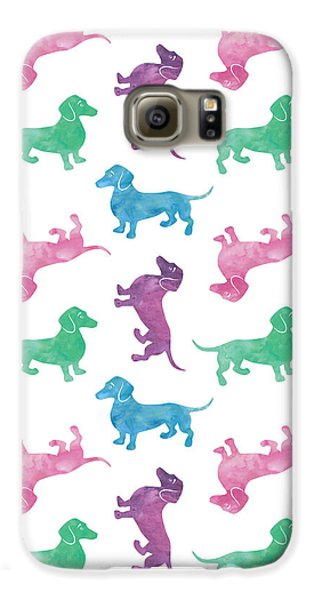 Raining Dachshunds Galaxy S6 Case by Antique Images