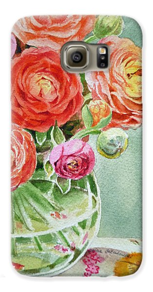 Ranunculus In The Glass Vase Galaxy S6 Case by Irina Sztukowski