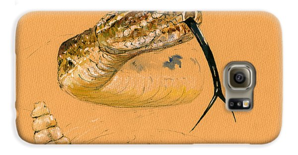 Rattlesnake Painting Galaxy S6 Case by Juan  Bosco