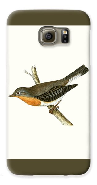 Red Breasted Flycatcher Galaxy S6 Case by English School