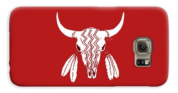 Red Ghost Dance Buffalo Galaxy S6 Case by Steamy Raimon