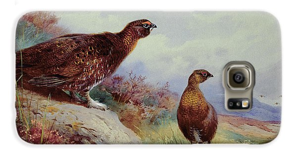 Red Grouse On The Moor, 1917 Galaxy S6 Case by Archibald Thorburn