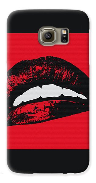 Red Lips Galaxy S6 Case by Edouard Coleman