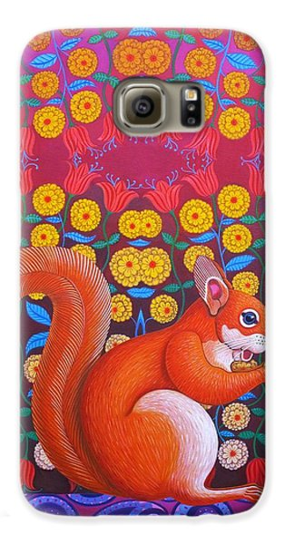 Red Squirrel Galaxy S6 Case by Jane Tattersfield