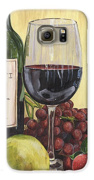 Red Wine And Pear 2 Galaxy S6 Case by Debbie DeWitt