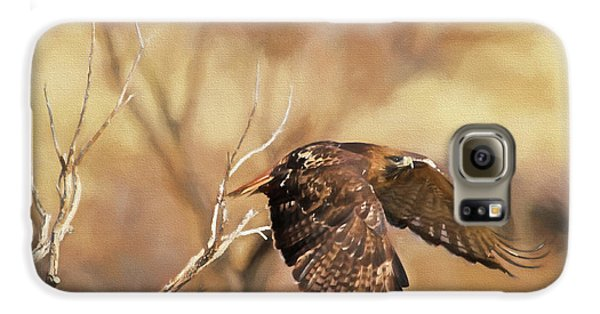 Redtail On The Move Galaxy S6 Case by Donna Kennedy