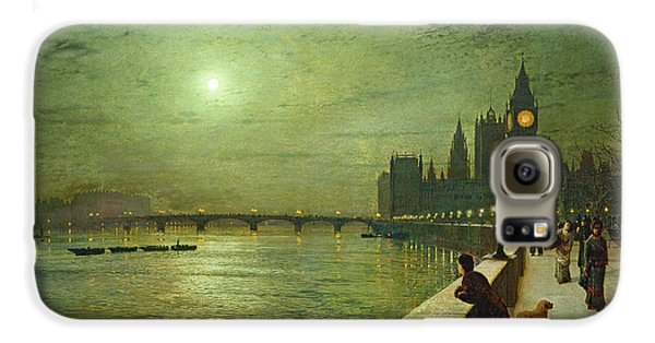 Reflections On The Thames Galaxy S6 Case by John Atkinson Grimshaw