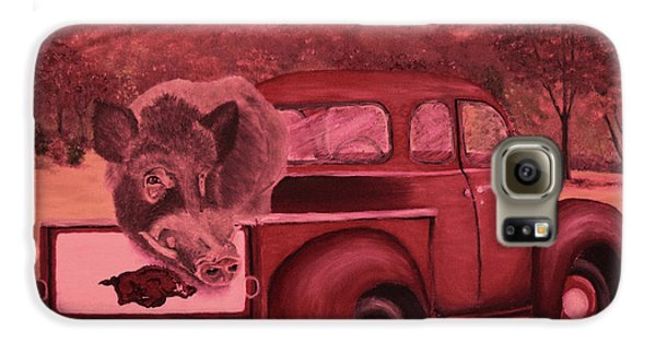 Ridin' With Razorbacks 3 Galaxy S6 Case by Belinda Nagy