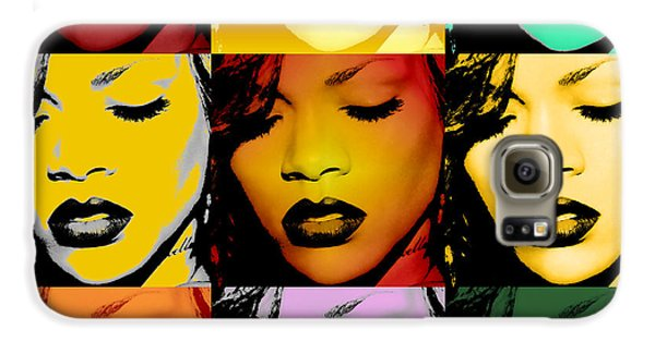 Rihanna Warhol By Gbs Galaxy S6 Case by Anibal Diaz