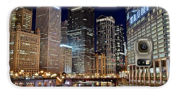 River View Of The Windy City Galaxy S6 Case by Frozen in Time Fine Art Photography