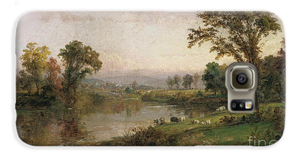 Riverscape In Early Autumn Galaxy S6 Case by Jasper Francis Cropsey