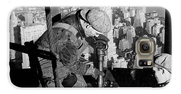 Riveters On The Empire State Building Galaxy S6 Case by LW Hine