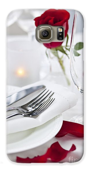 Romantic Dinner Setting With Rose Petals Galaxy S6 Case by Elena Elisseeva