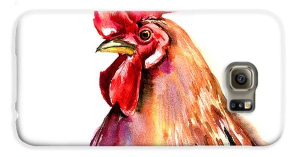 Rooster Portrait Galaxy S6 Case by Suren Nersisyan
