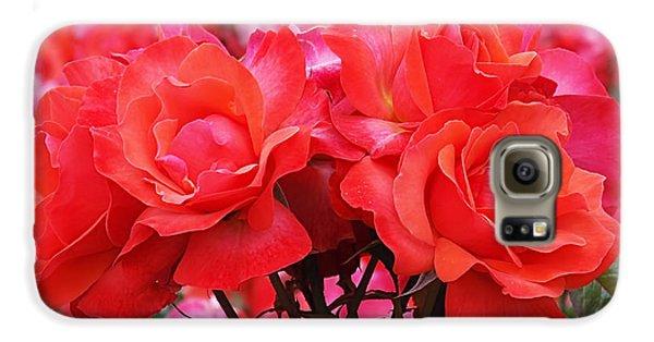 Rose Abundance Galaxy S6 Case by Rona Black