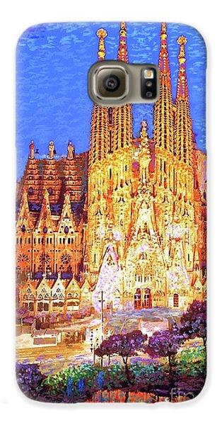 Sagrada Familia At Night Galaxy S6 Case by Jane Small