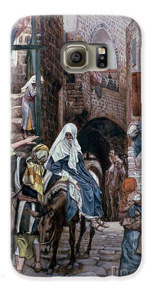 Saint Joseph Seeks Lodging In Bethlehem Galaxy S6 Case by Tissot