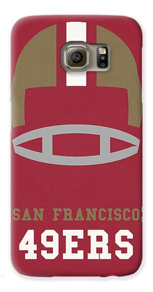 San Francisco 49ers Vintage Art Galaxy S6 Case by Joe Hamilton
