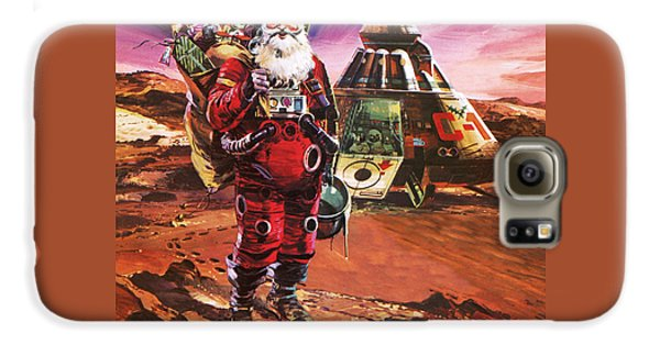 Santa Claus On Mars Galaxy S6 Case by English School