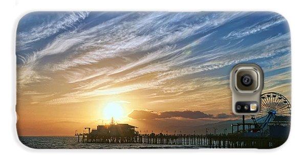Santa Monica Pier Galaxy S6 Case by Eddie Yerkish
