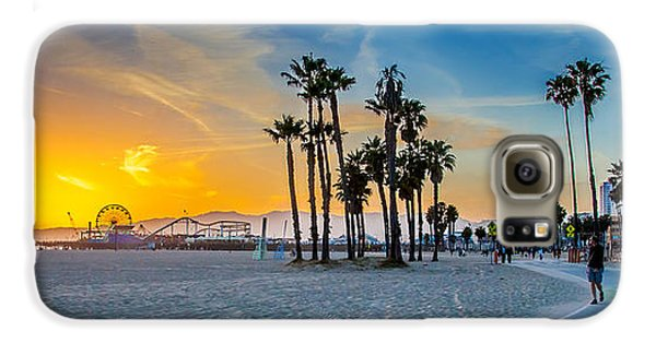 Santa Monica Sunset Galaxy S6 Case by Az Jackson