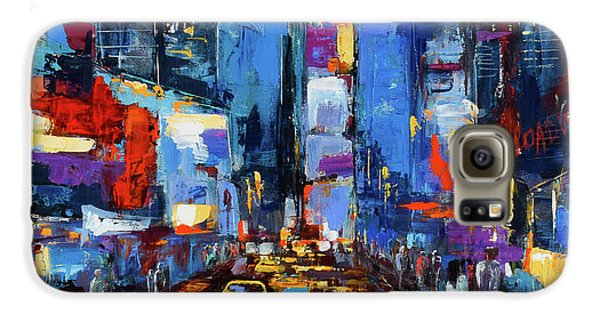Saturday Night In Times Square Galaxy S6 Case by Elise Palmigiani