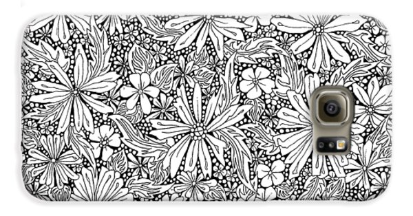 Sea Of Flowers And Seeds At Night Horizontal Galaxy S6 Case by Tamara Kulish
