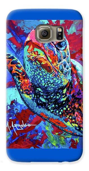 Sea Turtle Galaxy S6 Case by Maria Arango