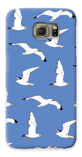 Seagulls Gathering At The Cricket Galaxy S6 Case by Elizabeth Tuck