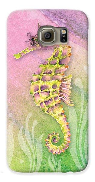Seahorse Violet Galaxy S6 Case by Amy Kirkpatrick