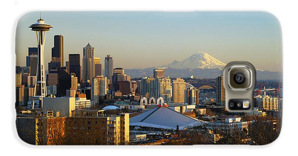 Seattle Cityscape Galaxy S6 Case by Greg Vaughn - Printscapes