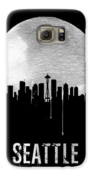 Seattle Skyline Black Galaxy S6 Case by Naxart Studio