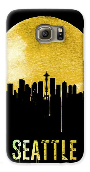 Seattle Skyline Yellow Galaxy S6 Case by Naxart Studio