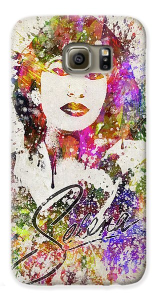 Selena Quintanilla In Color Galaxy S6 Case by Aged Pixel