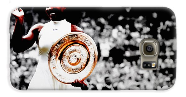 Serena 2016 Wimbledon Victory Galaxy S6 Case by Brian Reaves