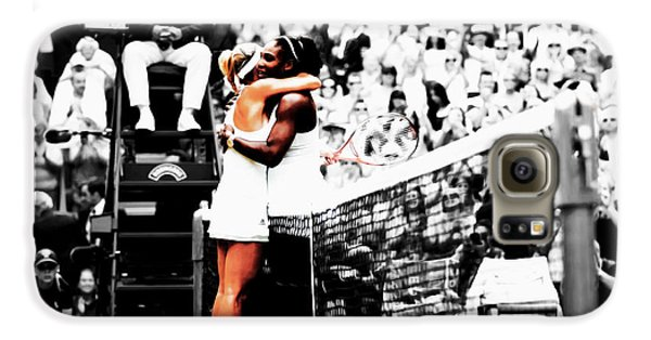 Serena Williams And Angelique Kerber 1a Galaxy S6 Case by Brian Reaves