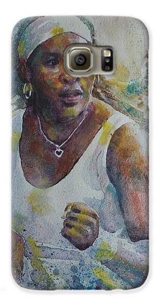 Serena Williams - Portrait 5 Galaxy S6 Case by Baresh Kebar - Kibar