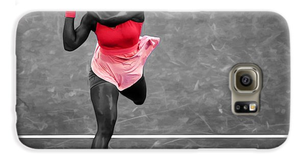 Serena Williams Strong Return Galaxy S6 Case by Brian Reaves
