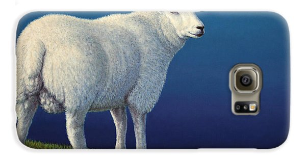 Sheep At The Edge Galaxy S6 Case by James W Johnson