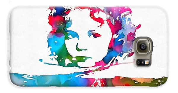 Shirley Temple Watercolor Paint Splatter Galaxy S6 Case by Dan Sproul